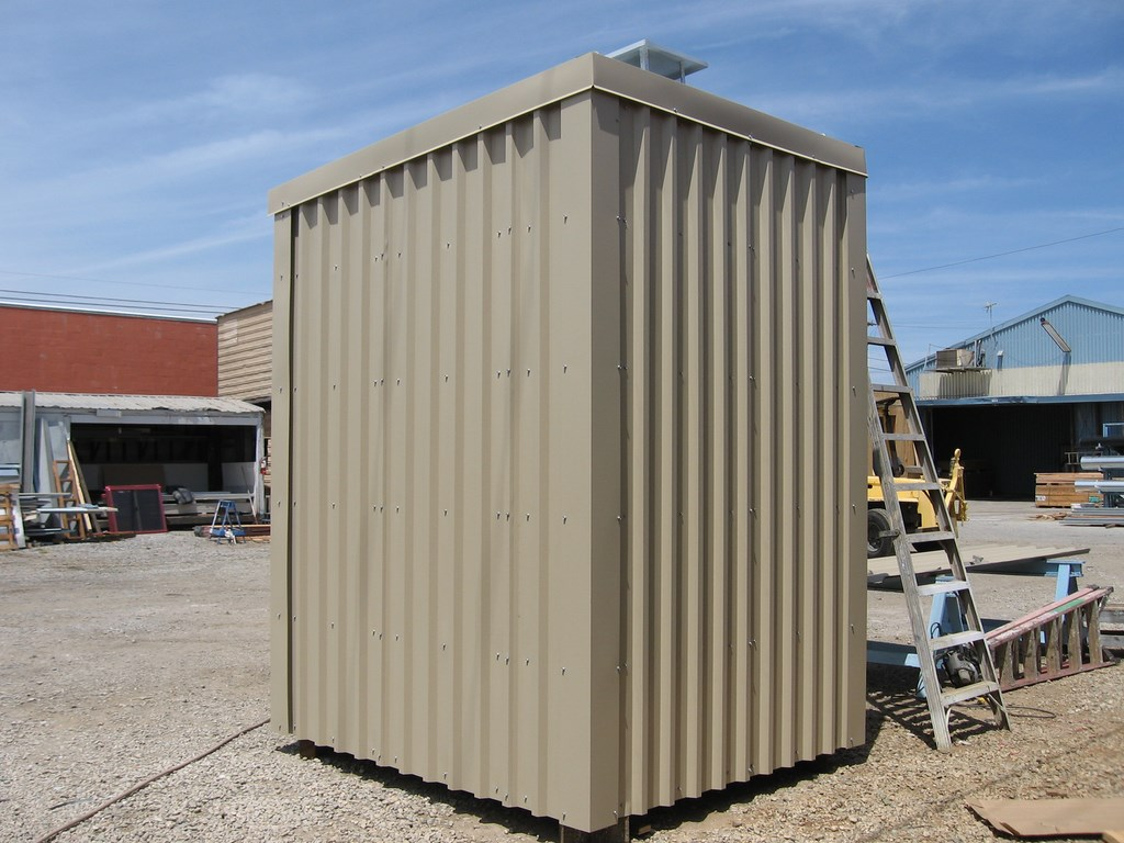 prefabricated steel frame scada shelter