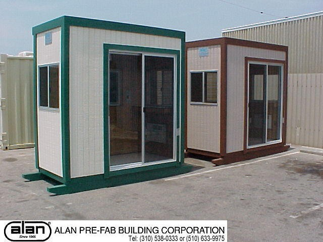 portable guard station, prefabricated security booth, forkliftable guard house, guard shack