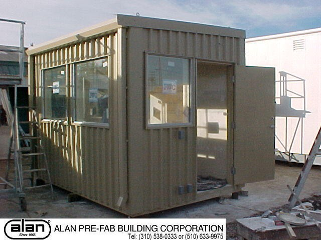 steel frame guard house, portable guard station, prefabricated security booth, forkliftable guard house, guard shack