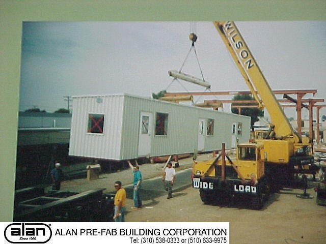 Steel frame industrial prefabricated portable building, SCADA, UPS enclosure, Control Room, compliant to IBC, CBC, ADA. Factory direct from Los Angeles California