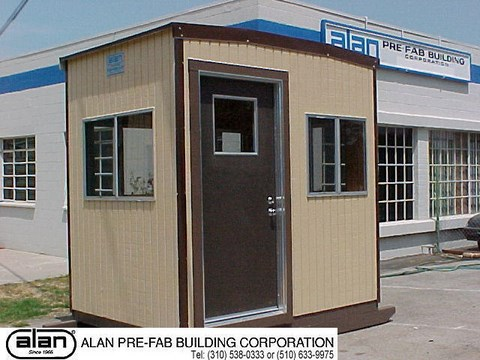 skid mounted guard shack, portable guard house, rent or lease security booth