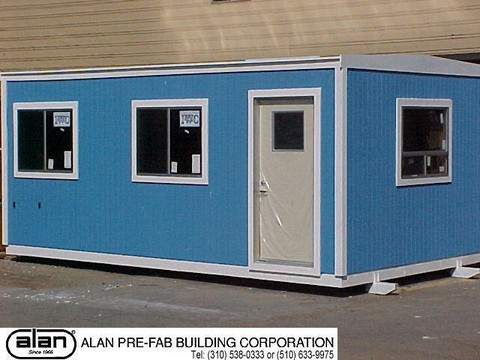 portable office, modular building, skid mounted building, prefab office, prefabricated building